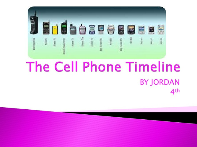 The Cell Phone Timeline