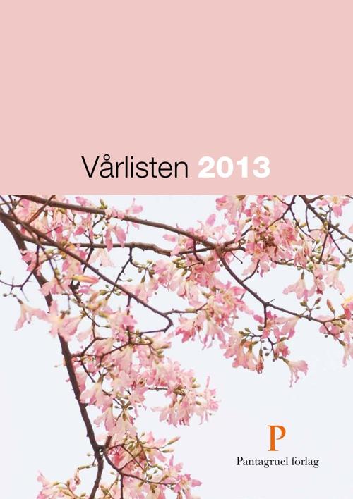 Pantagruel forlag Vårliste 2013