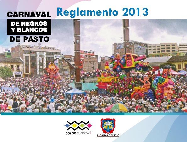 Reglamento Carnaval 2013