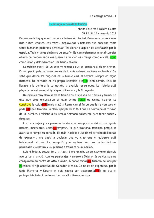 Ensayo Literario 2B Roberto Grajales Final