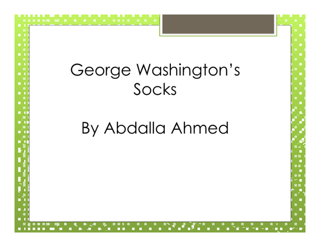 George Washington's Socks by Abdalla