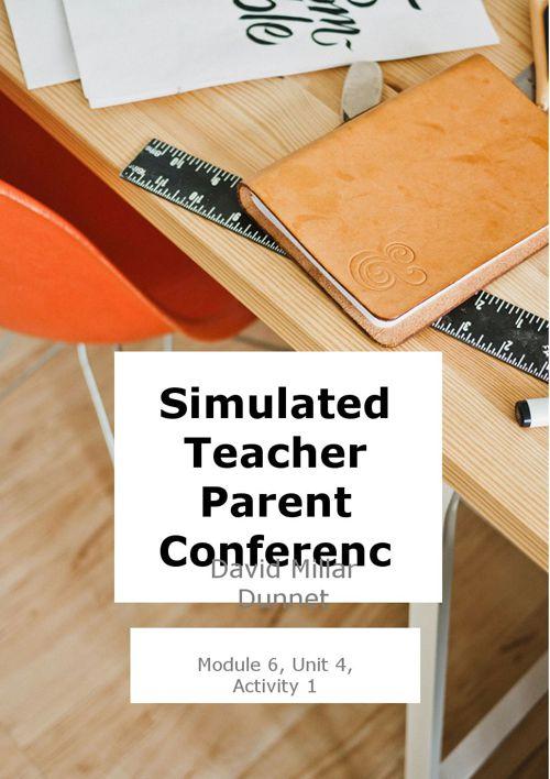 Parent Teacher Conferences - David Millar Dunnet
