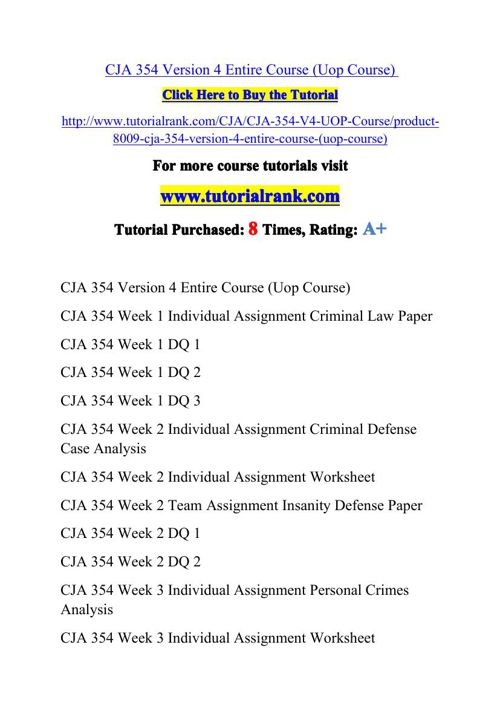 CJA 354 V4 Potential Instructors / tutorialrank.com