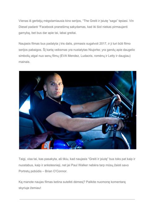 "[Lt] It's official- Vin Diesel confirms ""Fast and Furious 8"" Tri"