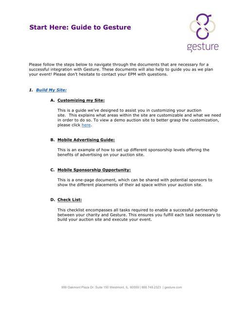 Gesture Auction Documents