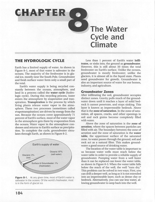 CH 8 Water Cycle & Climte