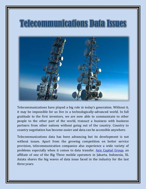 Telecommunications Data Issues
