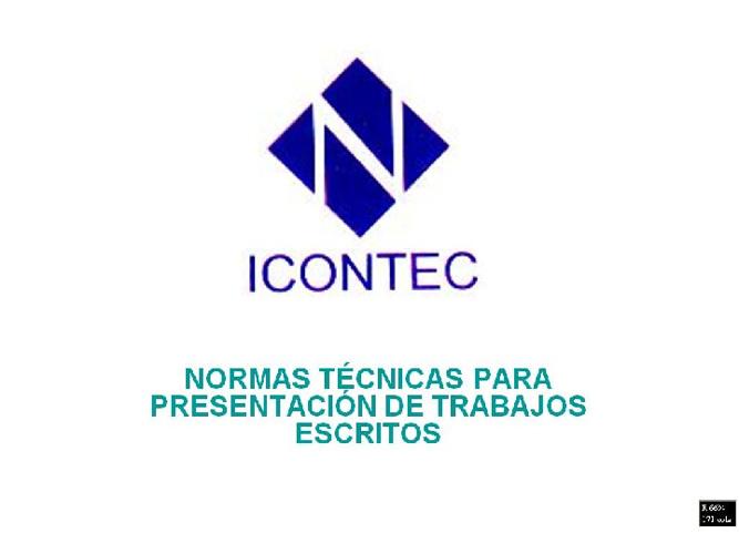 Normas ICONTEC y los Derechos de Autor  Camilo Acuña