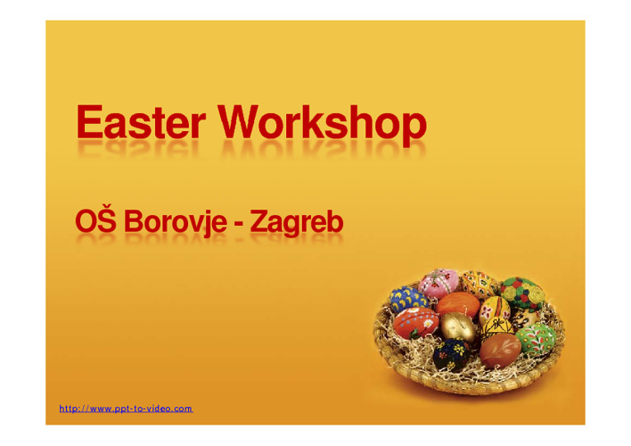 workshop - traditional easter eggs