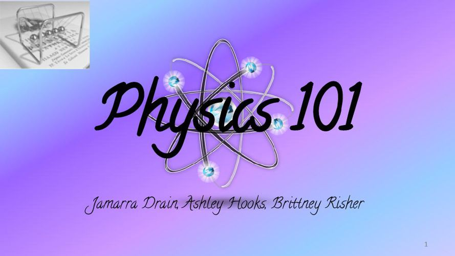 Physics 101 Booklet Research