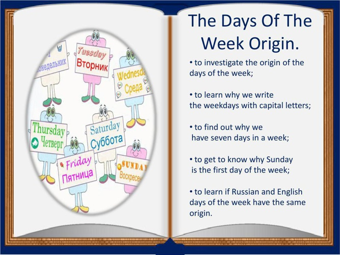 The Days Of The Week Origin