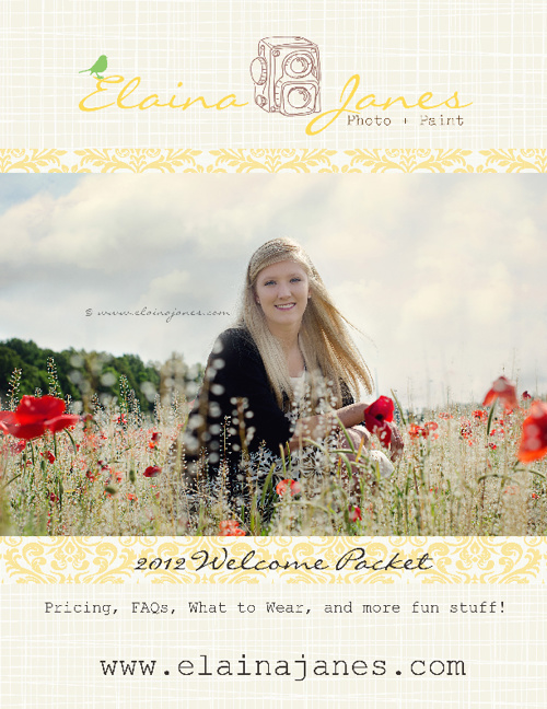 Elaina Janes Photo + Paint Welcome Packet