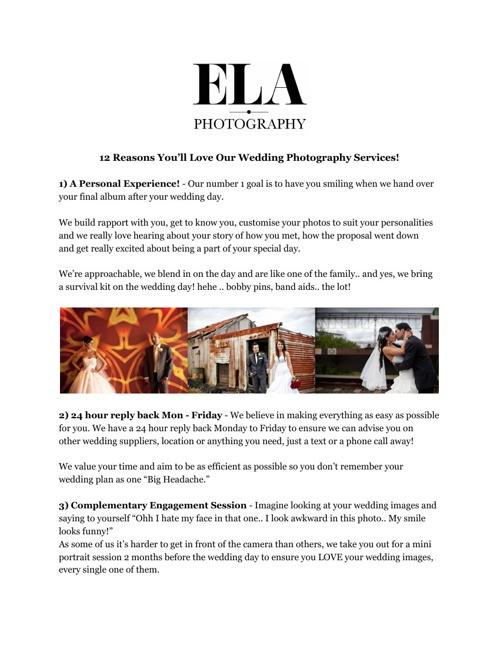 12 Reasons - Weddings