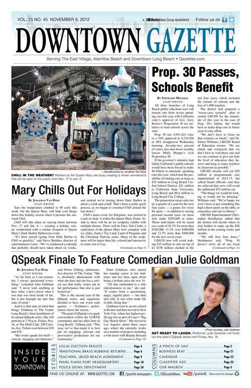 Downtown Gazette  |  November 9, 2012
