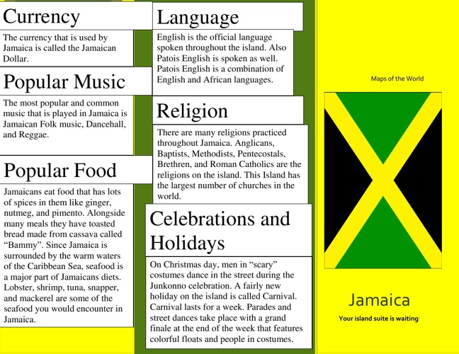 Jamaica By: Ana Garcia, Nicholas Nottage, and Kelly Lomax
