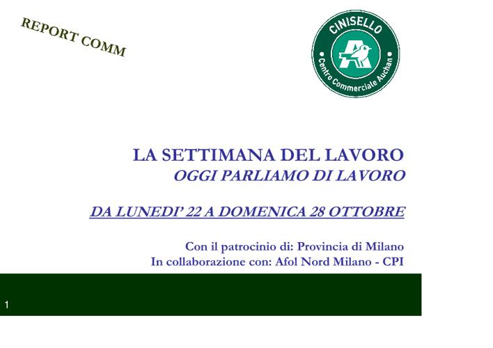 Settimana del Lavoro 2012 I Edizione