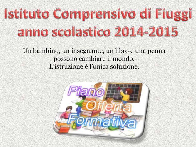POF 2014-2015 IC Fiuggi