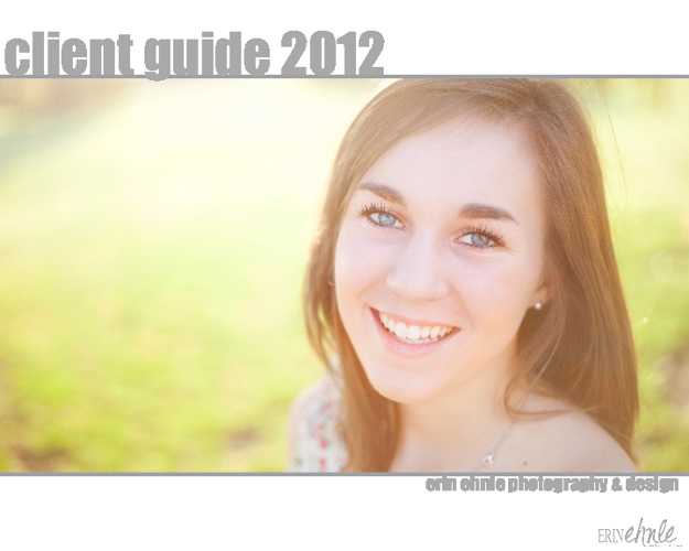 Client Guide 2012 | Erin Ehnle Photography & Design