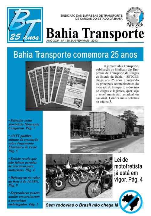 Jornal Bahia Transporte 180