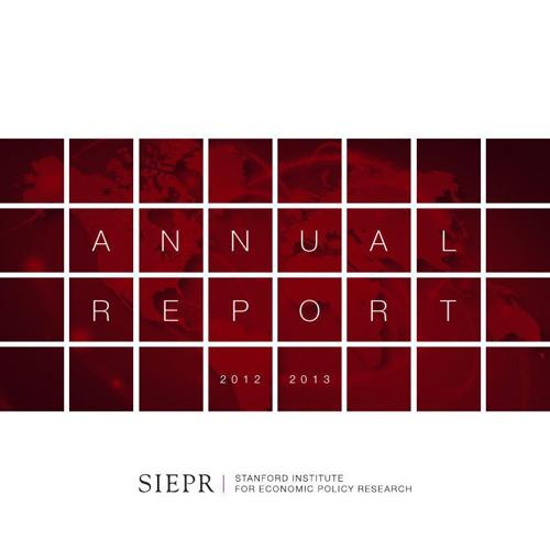 SIEPR 2013 Annual Report