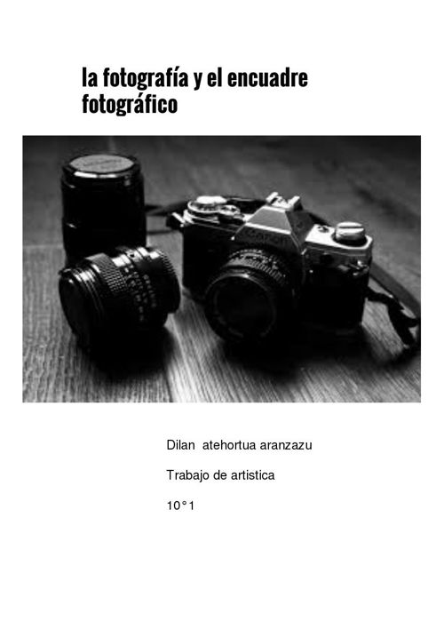 la fotografia y el encuadre