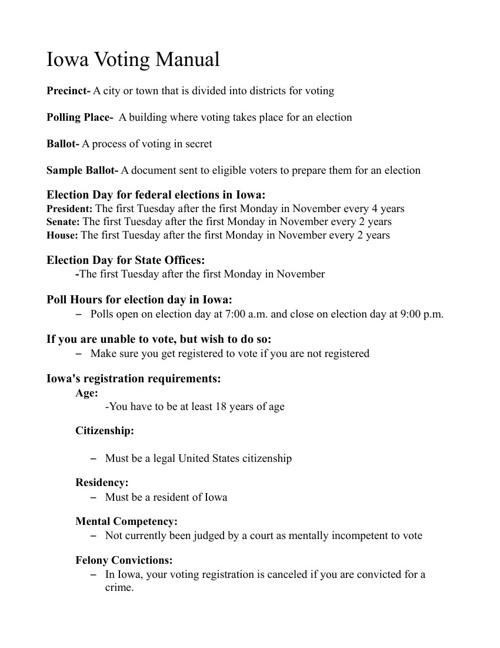 The Iowa Voting Handbook