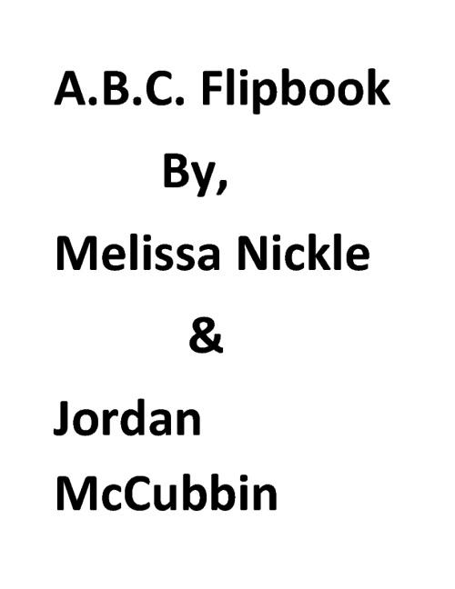 A.B.C Flip Book- webber J.M.