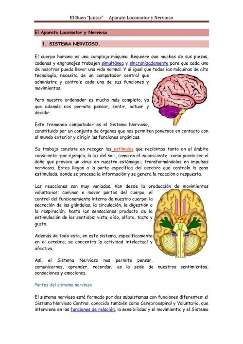 Aparato Locomotor y Sistema Nervioso y Muscular