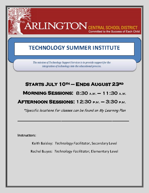 ACSD Professional Development for Summer 2012