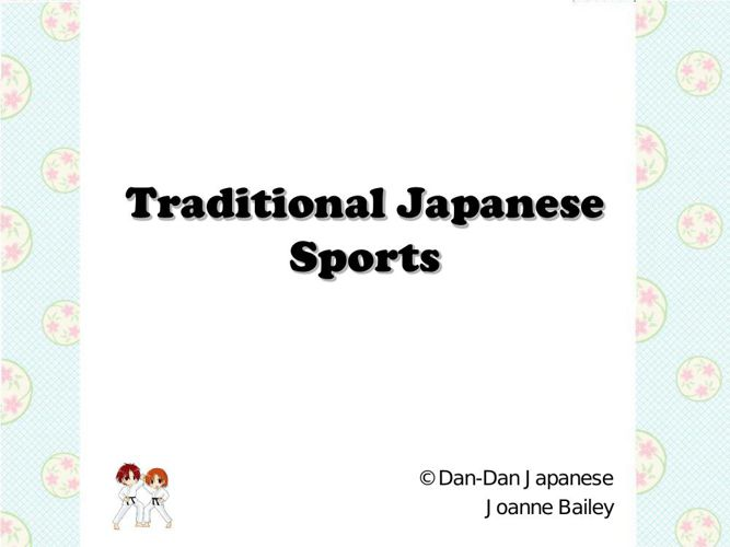 Traditional Japanese sports