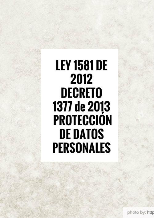 LEY 1581 DE 2013