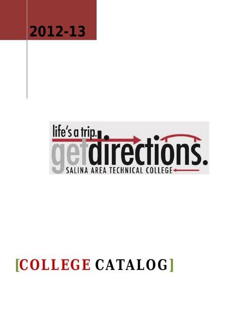 SATC College Catalog 2012 - 13
