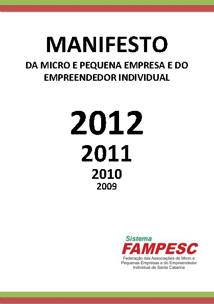 MANIFESTO FAMPESC 6ª EDIÇÃO