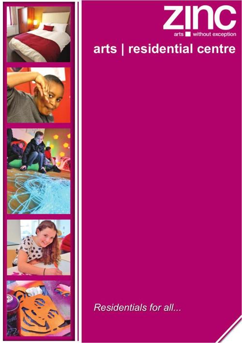 Zinc Arts Residential Centre brochure