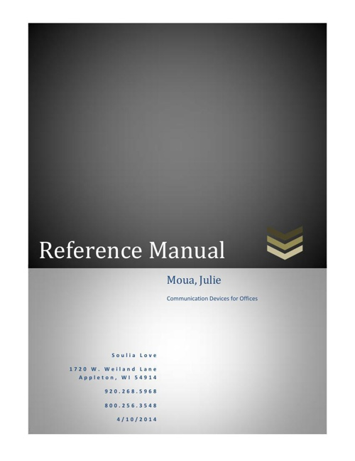 Reference Manual for Communication Devices