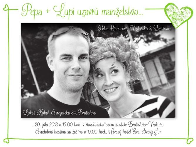 Svadobná knižka Pepa+Lupi 20.7. 2013