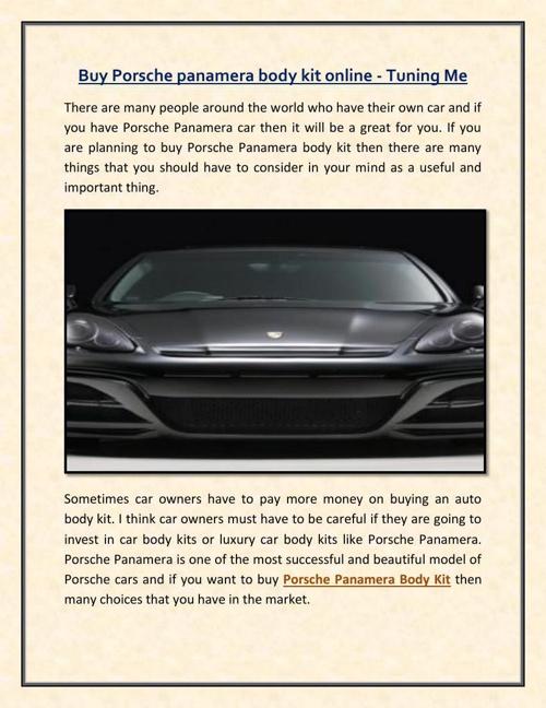 Buy porsche panamera body kit online - Tuning Me