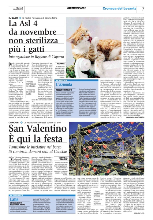 San Valentino...Innamorati a Camogli 2014 - Rassegna stampa