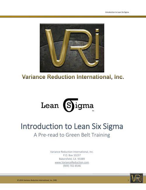 VRI Introduction to Lean Six Sigma