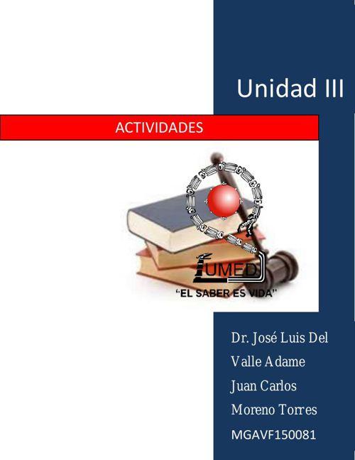 actividades unidad III