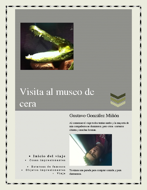 Excursion  al museo de cera