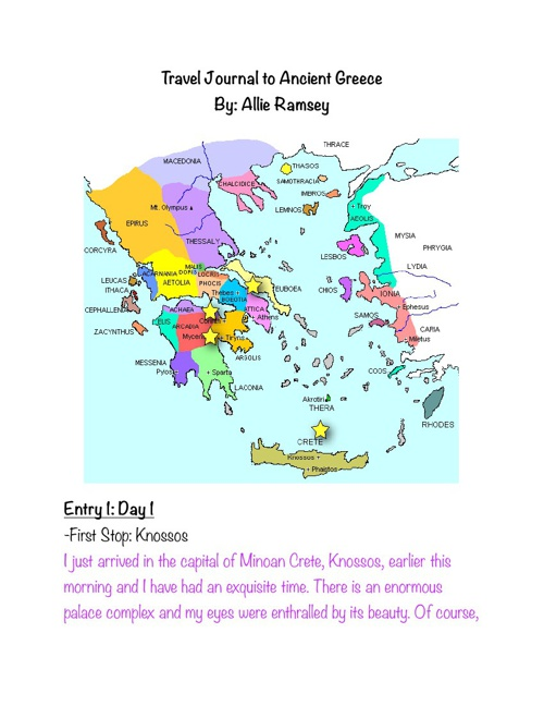 Travel Journal to Ancient Greece by: Allie Ramsey