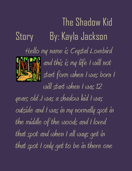 The Shadow Kid Story