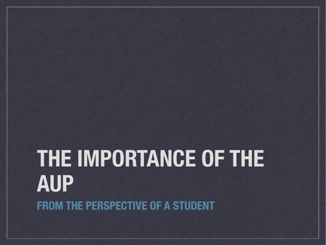 AUP_Presentation