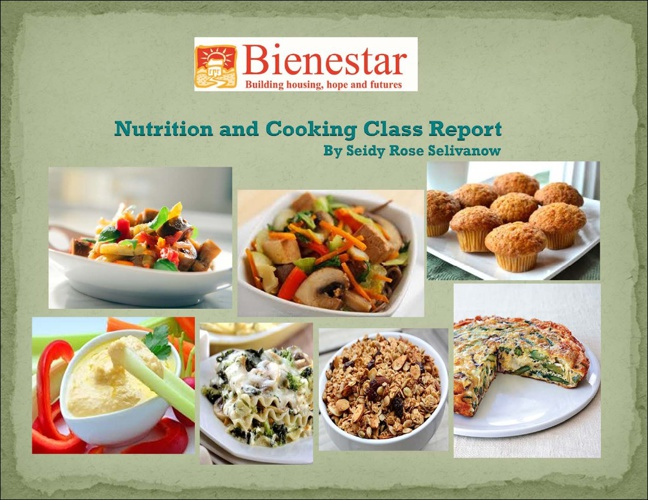 Nutrition and Cooking Class Report