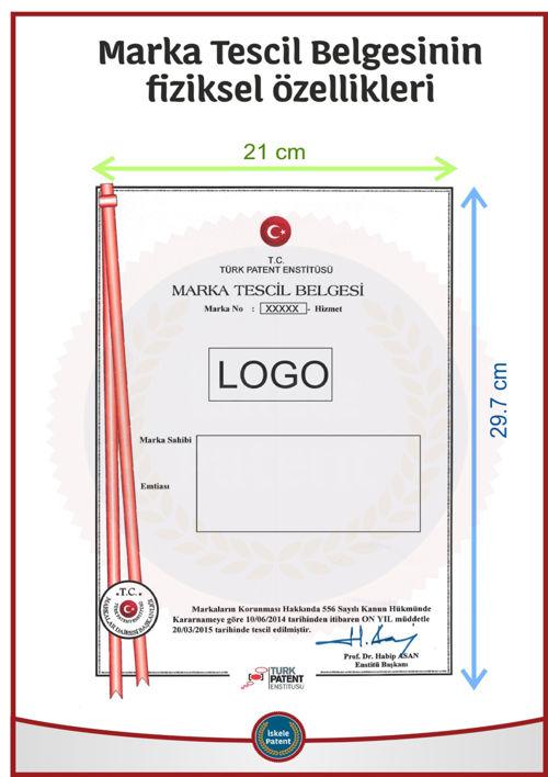 marka tescil belgesinin fiziksel özellikleri