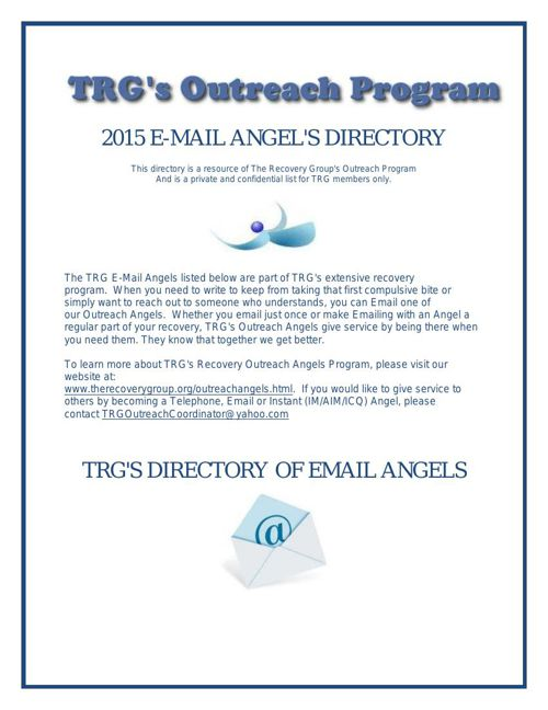 Outreach Email Angels 2015