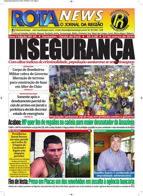Jornal Rota News - Ano I Edição LV - 17 de março de 2015