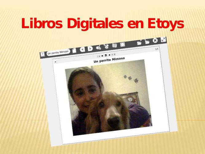 Libros digitales en Etoys