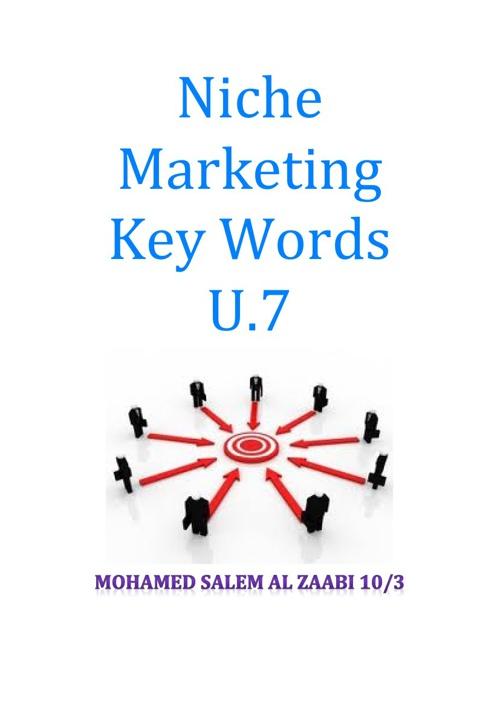 Niche Marketing Key Words